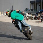 Bike stunt entertainer