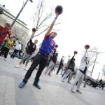 Street Freestyle football flash mob