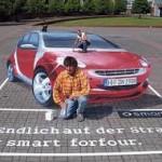 3D street art Vehicle Promotions