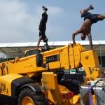 Parkour Breakdancing Stunt Crane Show