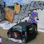 Car Graffiti at Exhibition