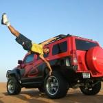 Car Show Stunt acrobat
