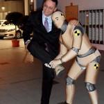 interactive human statue crash dummy