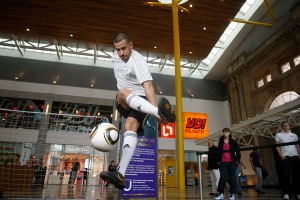 Football freestyler London