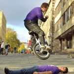 Extreme Unicyclist stunt performer