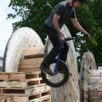 Extreme Unicycle Stunt