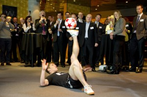 Freestyle Footballer in London UK-s