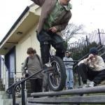 Street unicyclist rider