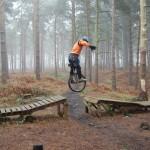 Unicyclist jump