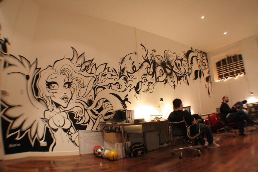 Office Graffiti Artwork