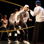 Artists Double Dutch skipping