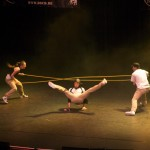 Breakdancers Double Dutch skipping
