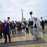 Eiffel Tower Football freestyle Flash mob