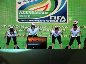 Female football freestyle Show Azerbaijan