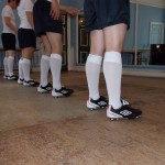 Football boot tap dancers