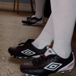 Football boots on tap dancers