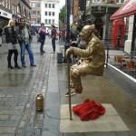 Golden Levitating Statue