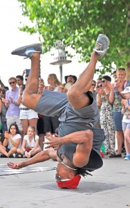 Headspinning Breakdancer - London South bank