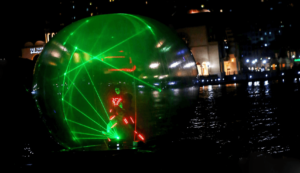Laser water show