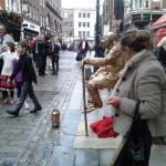 Levitating Human statue UK