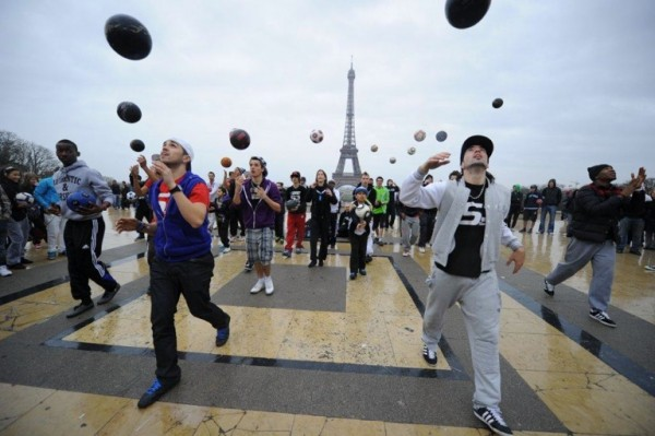Football Themed Flash Mob