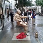 Street Floating statue