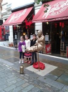 Street Living statues