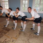 Tap Dancers in Football or Soccer boots