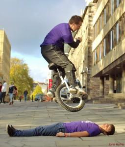 Stunt Unicyclists