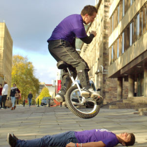 Stunt Unicyclists