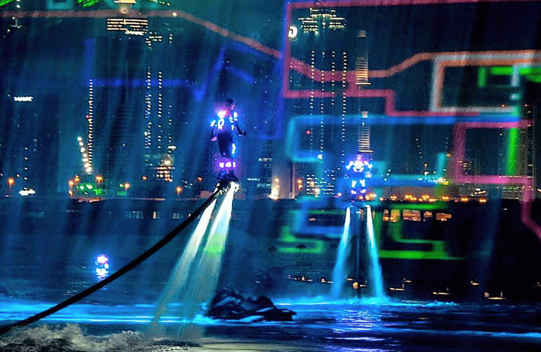 Flyboard Night Time Show Streets United