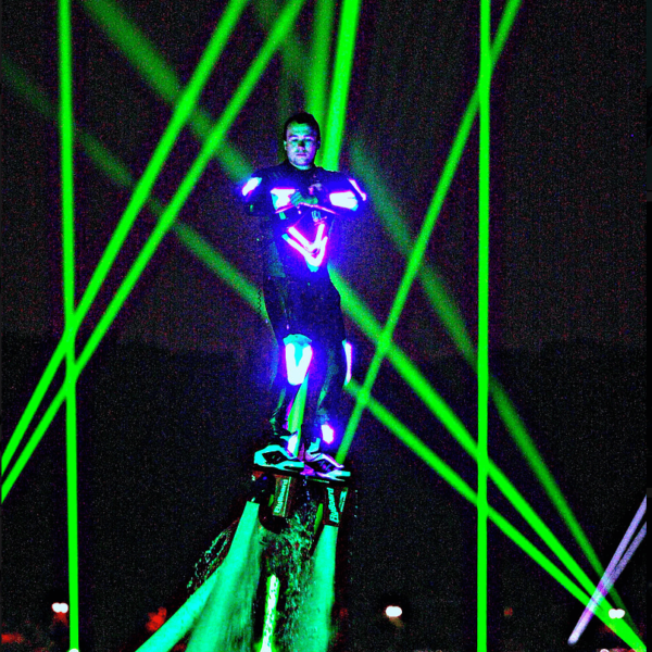 flyboard night time show