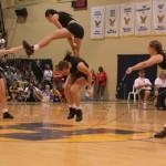 Acrobatic female double dutch skippers