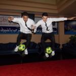 Football tricksters in Dubai