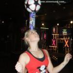 Head Balancing-female footballer
