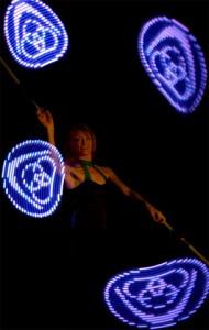 Juggling Light Show