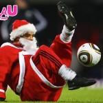 Santa Football Juggler