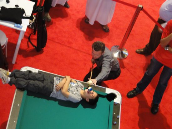 Live Pool Table Tricks - Shopping Centre