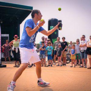 Tricks with Tennis balls