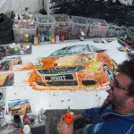 3D Wheel Art at Car Show