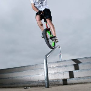 Stunt unicycle performers