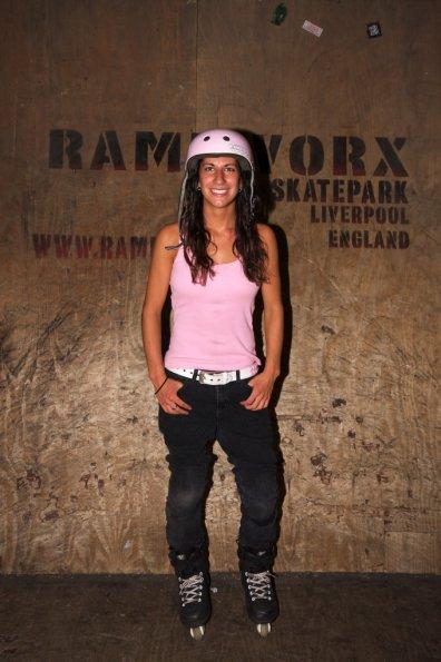 Female professional skater