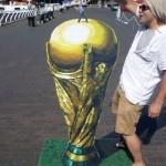 Football related 3D street art