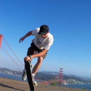 Freestyle Skateboard stunt performer