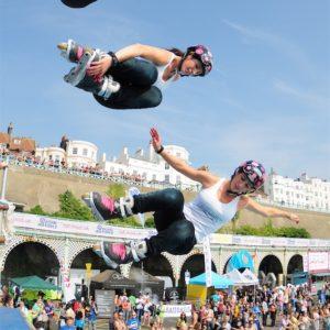 Stunt female skater