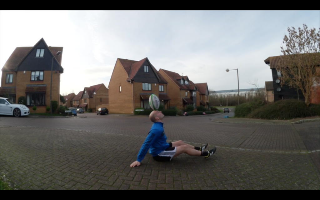 UK Rugby freestyle performer