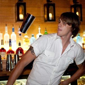 Bar flair performer