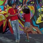 Brazilian themed football entertainment