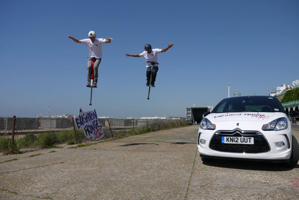 Synchronised stunt show