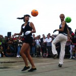 Football dance tricks show